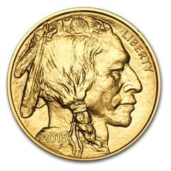2015 BU $50 Fine Gold Buffalo, 1oz