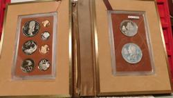1973 Cook Islands Silver Proof Set, 9 piece, Commem.