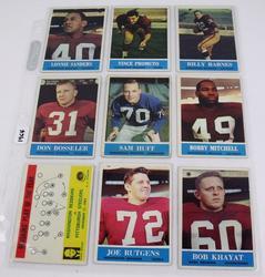 9 Redskins 1964 Football Cards