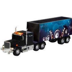 Large 21-inch Powerful Speaker Trailer Truck Black