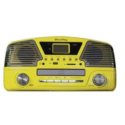 Yellow Classic 3-Speed Belt Driven Turntable