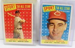 2 Sport Magazine 1958 All-Star Baseball Cards