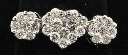 Past, Present, Future, Diamond Ring. 14k