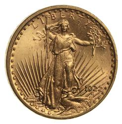 Gem BU - 1922 $20 St. Gaudens Gold Double Eagle