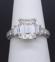 Glamorous 3.65CTW Certified Engagement Ring