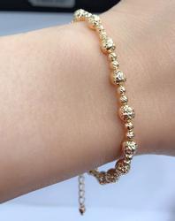 Solid 18KT Gold Bead Bracelet
