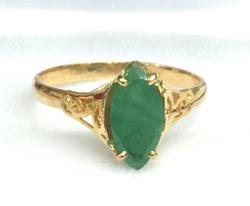14KT Gold and Emerald Cocktail Ring