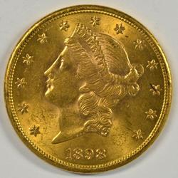 Much better BU 1898-S US $20 Liberty Gold Piece