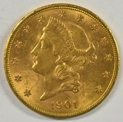 Very lovely BU 1901-S US $20 Liberty Gold Piece