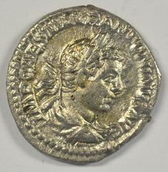 Sharp Elagabalus Roman Silver Denarius, 218-222 AD.