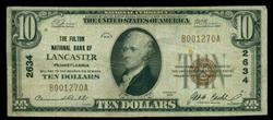 Scarce 1929 Series $10 National of Lancaster, PA (2634)