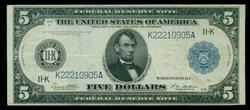 Nicer 1914 Series Large Size $5 Fed Res Note (11-K)