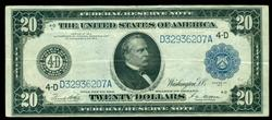 Real Nice 1914 Series Large Size $20 Fed Res Note (4-D)