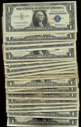 Large lot of 100 mostly 1957 Series $1 Silver Certs