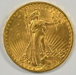 Select BU 1910 US St. Gaudens $20 Gold Piece
