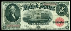 Nice 1917 Series Large Size $2 Legal Tender Note