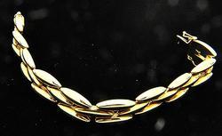 Fancy Design 18kt Gold 13mm Wide Bracelet