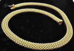Italian 18kt Gold Mesh Style Necklace, 50 grams