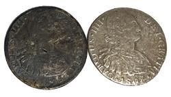 2 Shipwreck Affect 8 Reales Silver