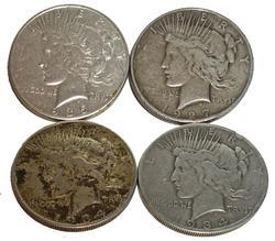 4 Slightly  better date Peace Dollars 27-D,34-D-S,35