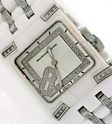 Ladies TechoMarine Ceramic Watch with Diamonds