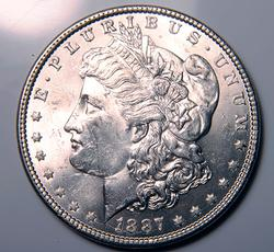 1887 BU Morgan Silver Dollar