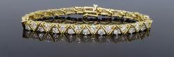 14K Yellow Gold 6.16CTW Diamond Bracelet