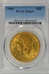 Great 1876-S Type II $20 Liberty Gold. NGC AU 55