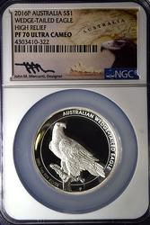 2016-P AUSTRALIA $1 Wedge Tail Eagle HR Mercanti