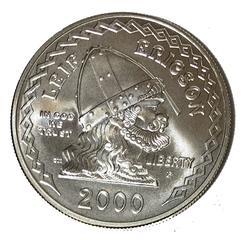 Lower Mintage 2000 Leif Erickson Unc Comm Silver $