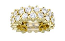 4.50CTW Eternity Style Diamond Ring