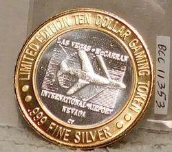 999 Fine Silver, Gaming Token, Las Vegas