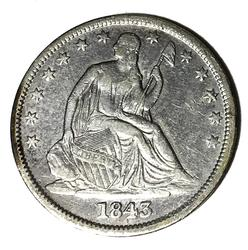 1843-O Seated Liberty Half Dollar