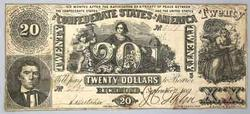 Sept 1861 $20 Confederate States Note