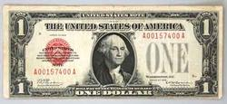 $1 US Note 1928 Red Seal Series