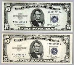 $5 Choice CU 1953 Blue Seal Silver Certificate