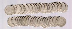 Roll of 40 Liberty 'V' Nickels