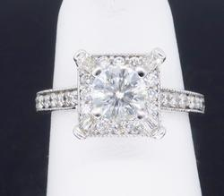 18K White Gold Celebration Diamond Engagement Ring