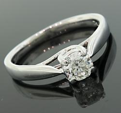 18K Octillion Cut Diamond Solitaire Band