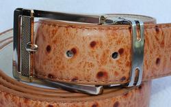 Classy Ostridge Skin Pattern Leather Belt
