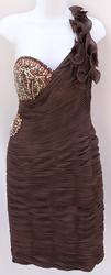 A Very Chic Brown Color Night Gown By Terani