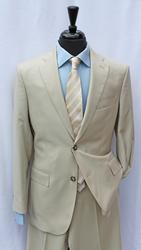 Super Fine Quality Tan Color Slim Fit Suit By Galante