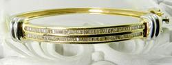 Sparkling 14K Baguette Diamond Bangle