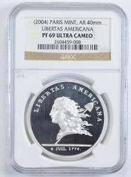 PF69UCAM 2004 Paris Mint Libertas Americana Medal Restr