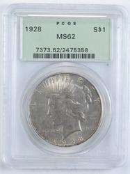 MS62 1928 Peace Silver Dollar - PCGS Graded