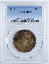 1917 Walking Liberty Half Dollar PCGS MS65