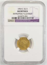 1854-C $2.50 Liberty Head Gold Quarter Eagle - NGC