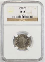 PF64 1899 Liberty V Nickel - NGC Graded