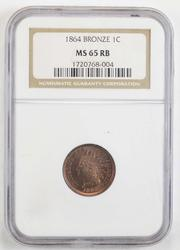 MS65RB 1864 Indian Head Cent - Bronze - NGC Graded