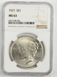 1927 Peace Silver Dollar NGC MS63